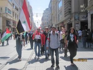 Con la resistanza siriana a Istanbul, maggio 2011