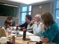 Con Flavio Arzarello e Riccardo Messina (FGCI) e Roberto Galtieri (PdCI e GUE/NGL) presso il Parlamento europeo di Bruxelles, febbraio 2008