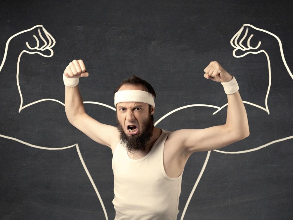 超回復による筋肉アップのイメージ