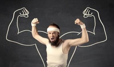 筋肉を鍛えたら強くなる様子