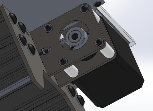 Readjusted Y - Axis Stepper Motor Mounting