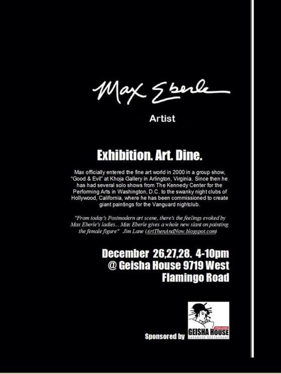 max eberle art show geisha house poster