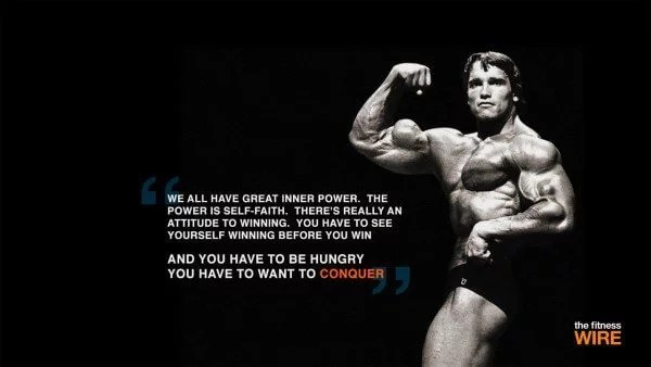 If you need motivation in the gym, Schwarzenegger has plenty of quotes to offer.