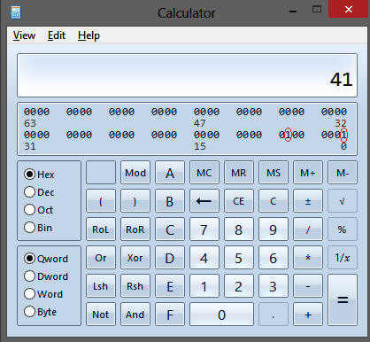Calculating Hex Value