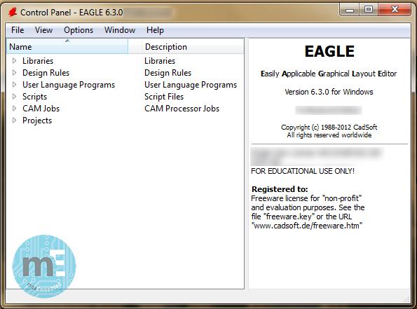 EAGLE Control Panel