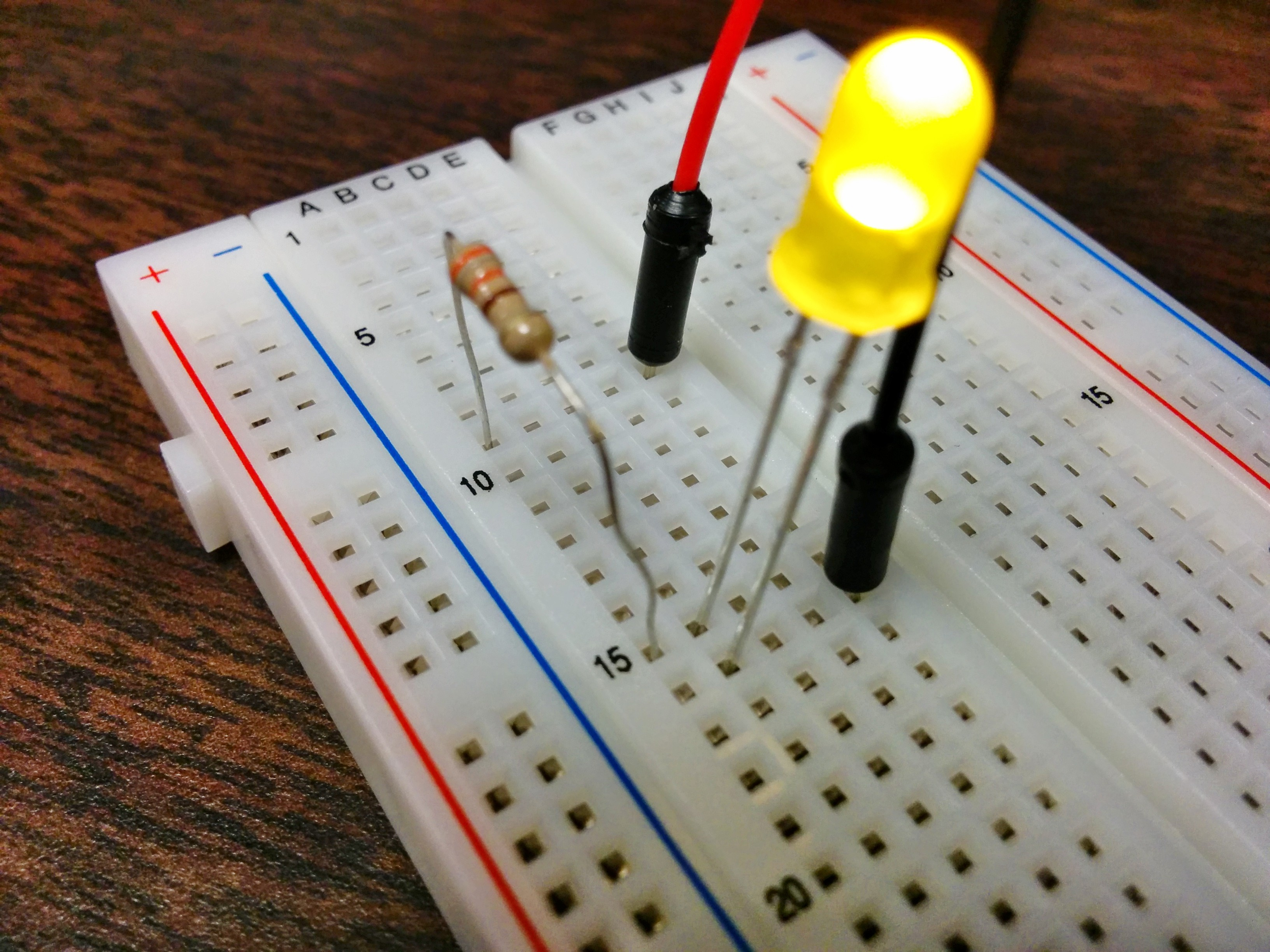 Using The Raspberry Pi Gpio With Python Maxembedded 10 Led Wiring Diagram Blinky Breadboard Circuit