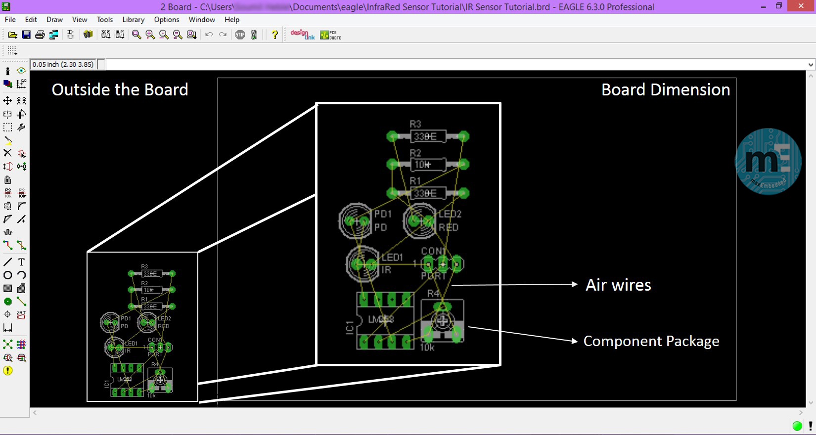 Board Layout Initial View