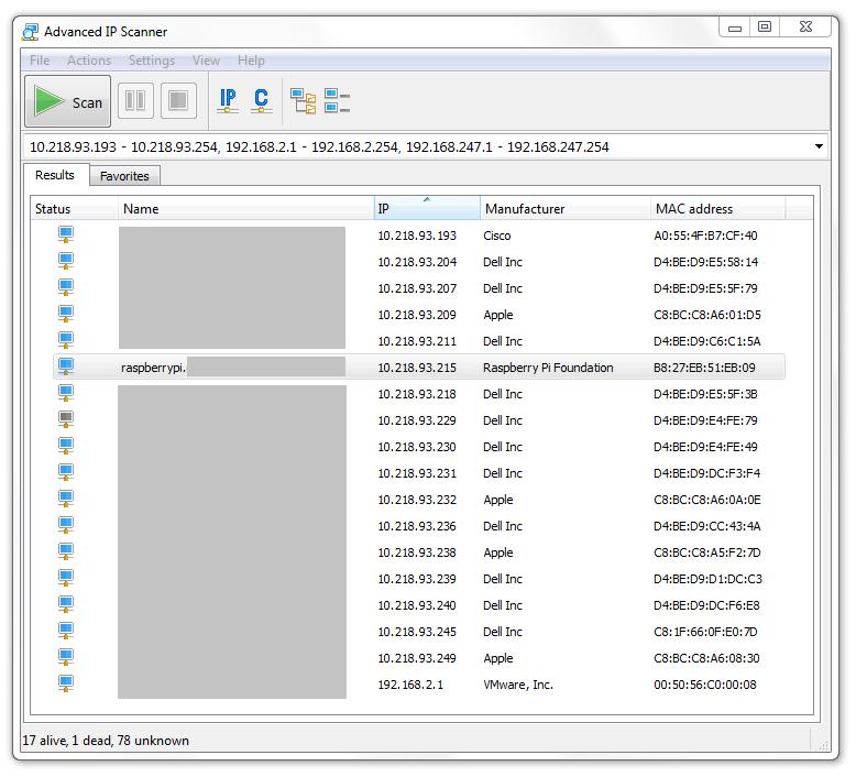 IP Scanner Result - Windows