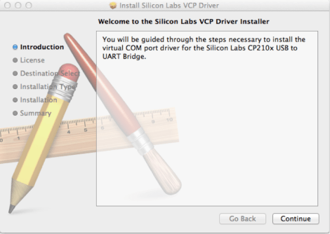 CP210x Driver Installation - Mac