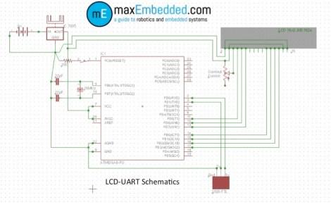 UART-LCD Schematics