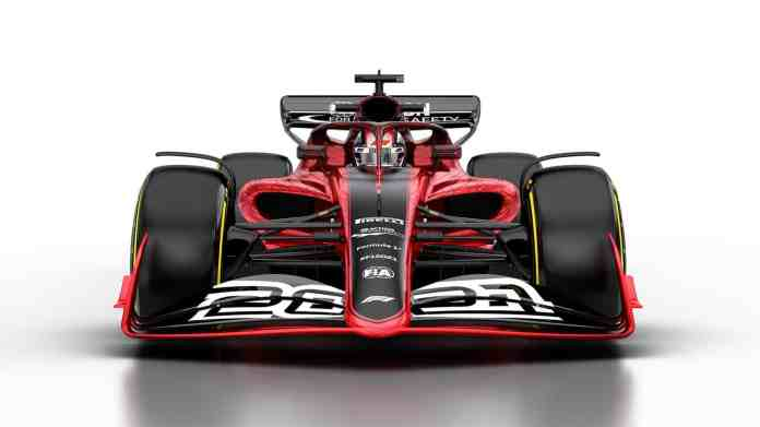 2021 F1 Car released on Oct 31 2019 front angle view front wing nose Photo Formula 1