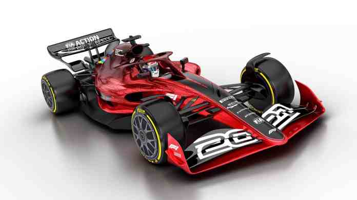 2021 F1 Car released on Oct 31 2019 left front angle Photo Formula 1