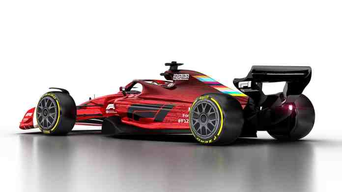2021 F1 Car released on Oct 31 2019 left side rear angle Photo Formula 1