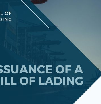 who can issue a bill of lading