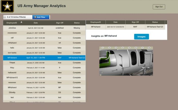 Manager View to view all Summary Reports and Screenshots