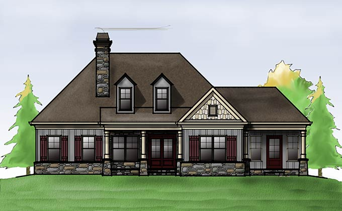 Cottage House Plan With Porches By Max Fulbright Designs