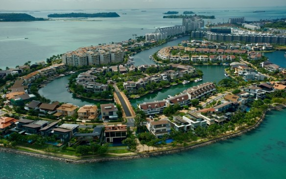 aerial view sentosa cove 2 photo by studio8 300x188 Sentosa Island Overview