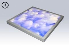 plane flat LED tile