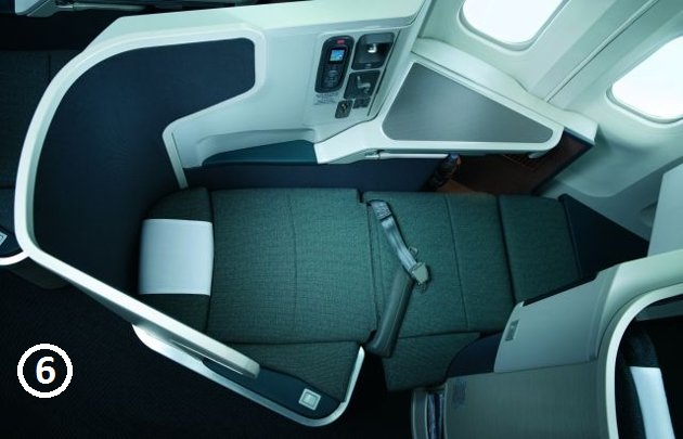 plane lie flat bed