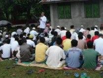 Imam giving sermon