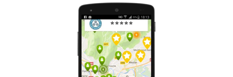 "Xamarin.Android – Grouping Google Map markers with ""Clustering"""