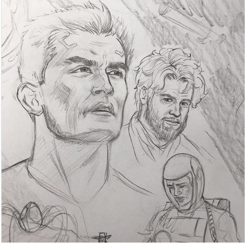 Alvin Baylor Lives! Cover Sketch