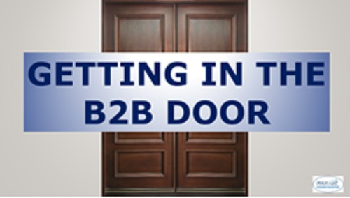 getting in the b2b marketing door
