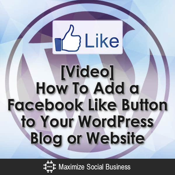 Video-How-To-Add-a-Facebook-Like-Button-to-Your-WordPress-Blog-or-Website-V1