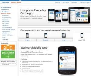 Walmart's mobile apps.