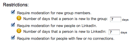Screenshot of LinkedIn Groups Moderation for Newbies