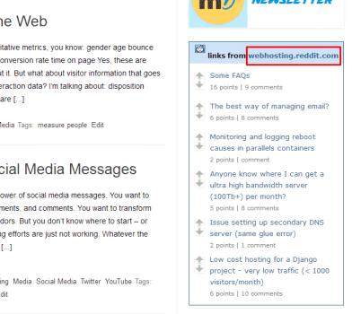 webhosting widget