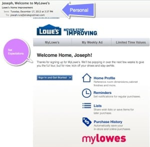 How Lowe's is Sustaining Customer Relationships SoLoMo  Welcome-email-300x293