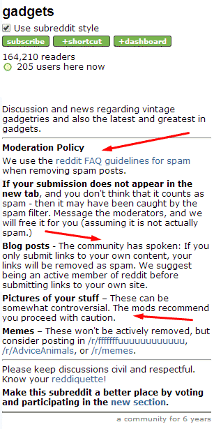 What are subreddits and Why Should I Care? Reddit  gadget-mod-rules