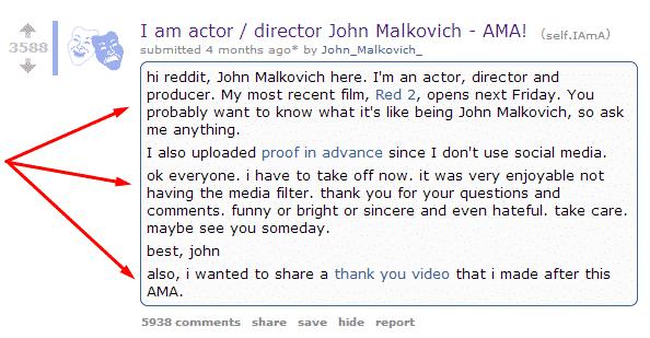 7 Examples of Successful reddit Marketing Reddit  john-malcovich-ama