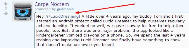 7 Examples of Successful reddit Marketing Reddit  lucid-dreaming