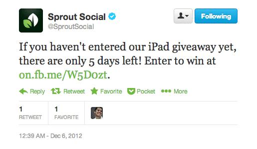 6 Benefits of Running Social Media Contests Social Media Contests  sprout-social-contest