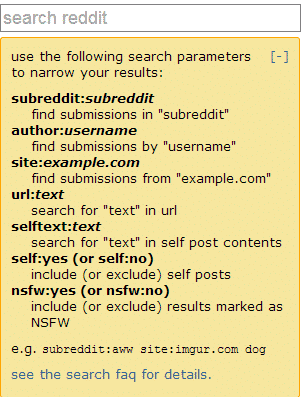 reddits search bar