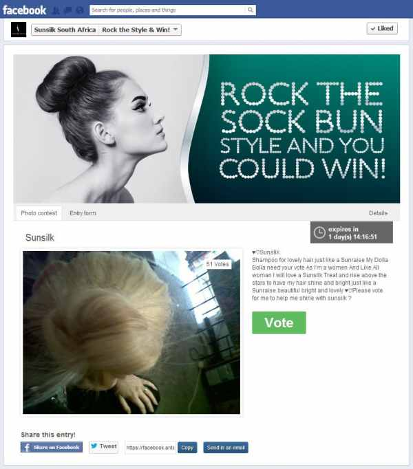 Sunsilk asked fans to upload their hairdo.