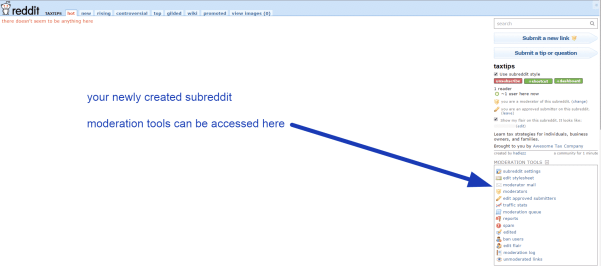 How to Design a Subreddit for Your Own Business, Service, or Program Reddit  taxtips-demo-1