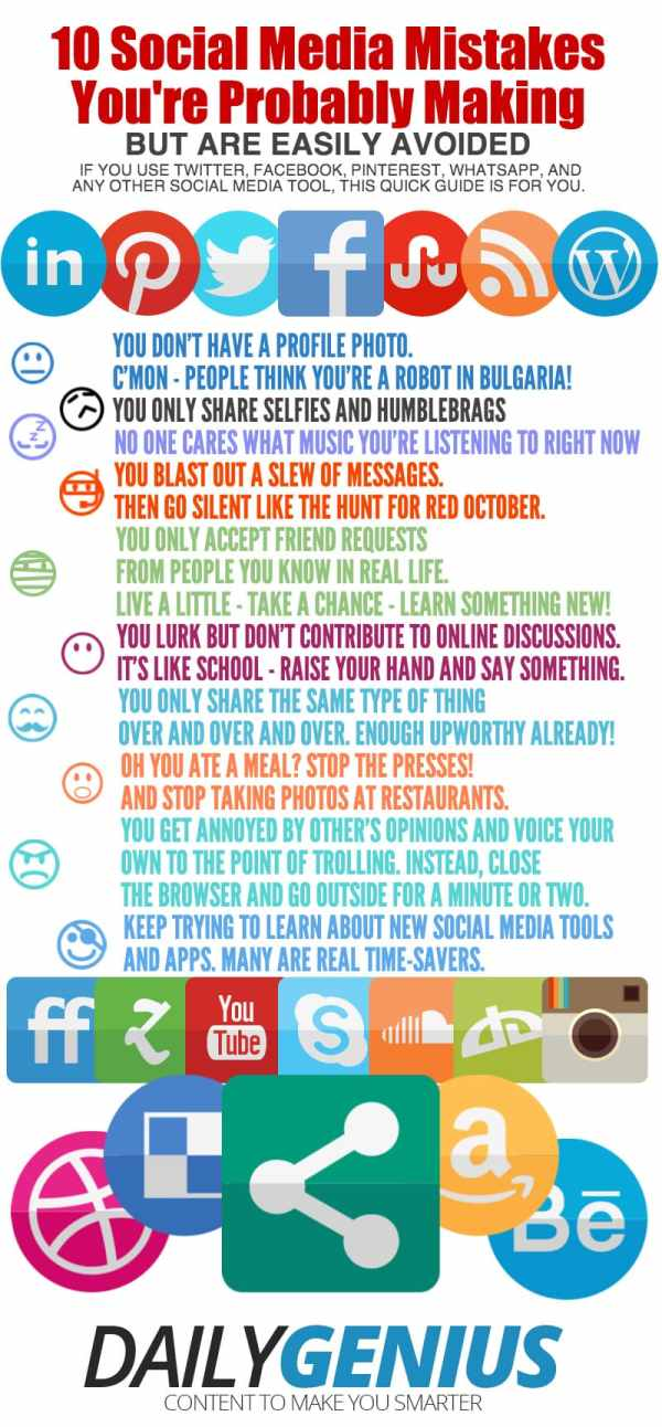 SOCIAL MEDIA 10 social media mistakes you're probably making