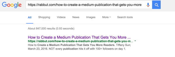 Why Should I Republish My Blog Content onto Medium? Medium  google_blogurl_index_check-600x198