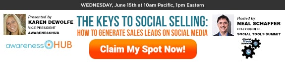 Social Selling Should Come Before B2B Social Media Marketing Social Sales  THE_KEYS_TO_SOCIAL_SELLING_HOW_TO_GENERATE_SALES_LEADS_ON_SOCIAL_MEDIA-Webinar-575x125-V1