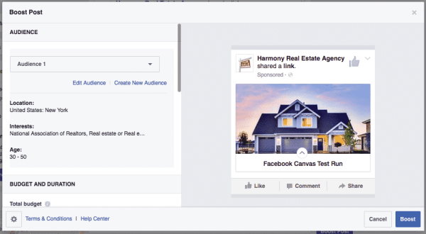 Facebook Canvas Is the New Way To Advertise Facebook  facebook-canvas-promote-boost-600x330