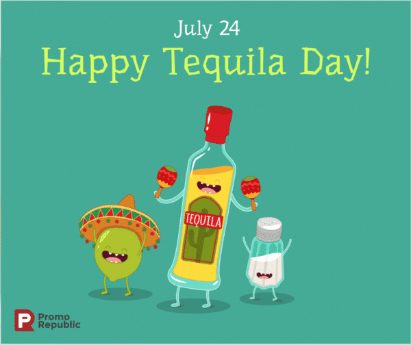 holiday posts for social media PromoSimple Happy Tequila Day July 24