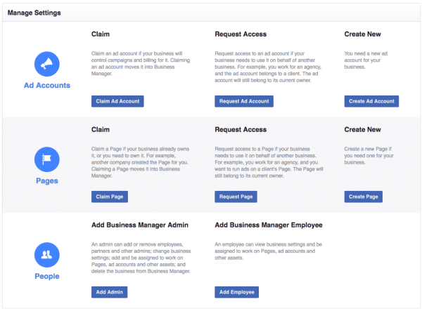 Facebook Business Manager - Do You Need It? Facebook  facebook-business-manager-manage-settings-600x443