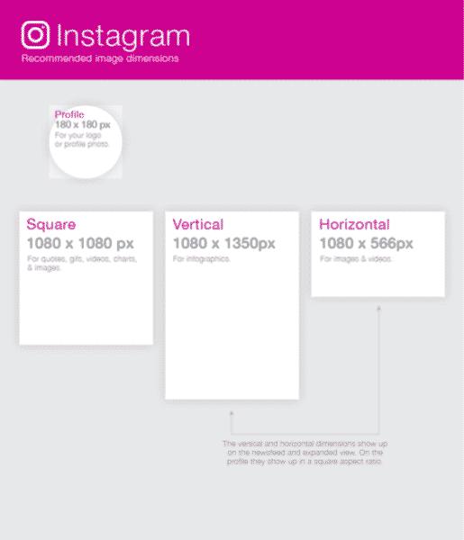 instagram dimensions