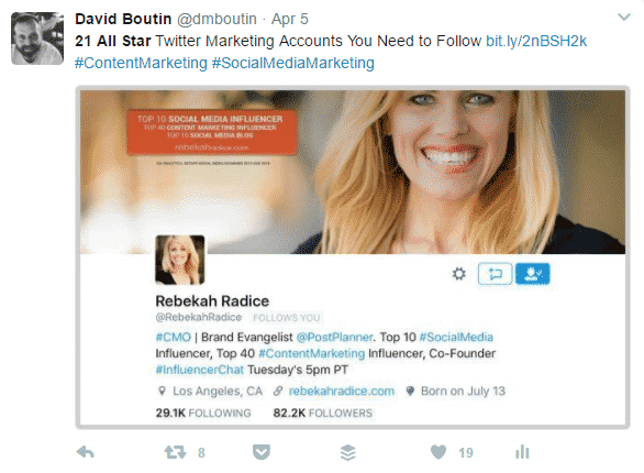 How to Use Hashtags to Promote Your Business on Twitter Twitter  Hashtags_for_Rebekah_Radice_Tweet