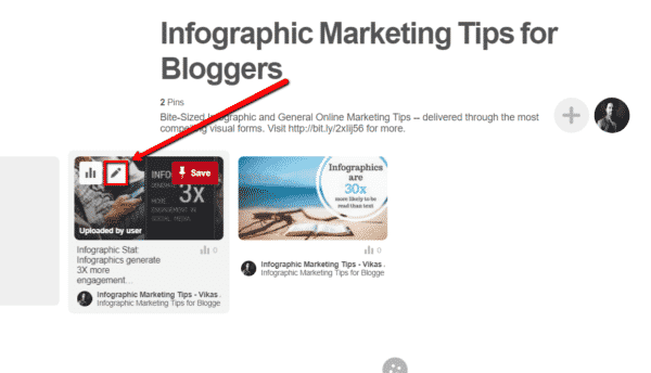 How to Use Infographics on Pinterest to Get More Website Traffic Infographics  Edit_This_Pin_button-600x344