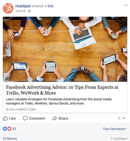 How to Boost Sales with Social Media Storytelling Content Marketing  HubSpot-Facebook-post-553x600