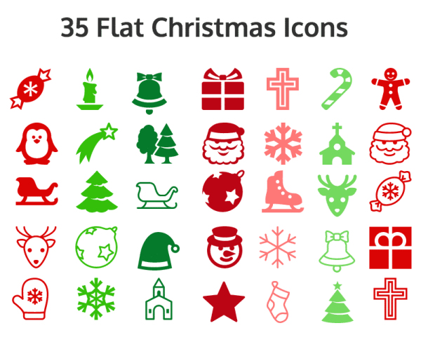 Flat Icons examples